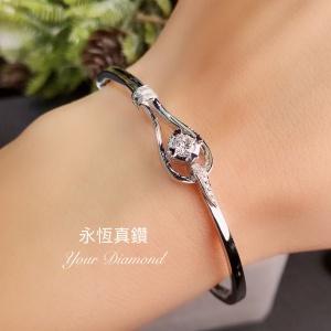 YBLD002011 , 18K白色黃金鑽石手鐲 Diamond Bangle
