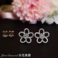 YELD001106 , 18K白色黃金鑽石耳環 Diamond Earring