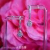 YELD001123 , 18K白色黃金鑽石耳環 Diamond Earring