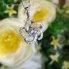 YPCD001006, GIA 證書0.40ct Diamond, 18K白色黃金鑽石吊墜 Diamond Pendant
