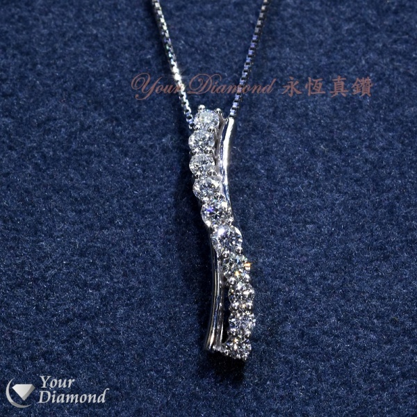 << 日本製 >> YPLD-JP01075914, PT鉑金鑽石吊墜 ( 送PT鉑金項鍊 ) << 附日本證書 >>